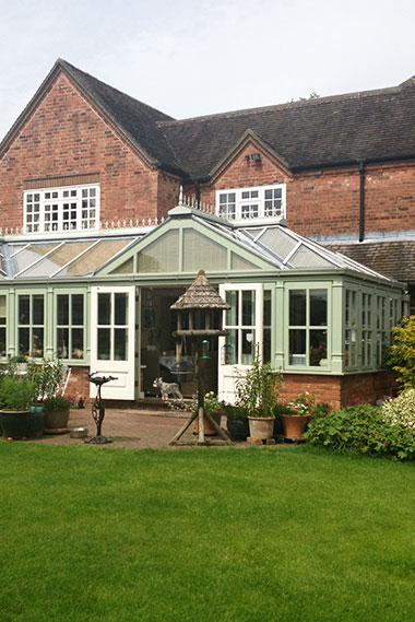 Handcrafted timber conservatories