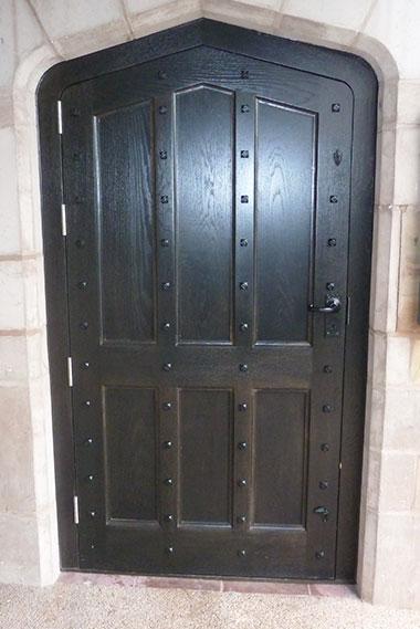 Elegant timber entrance doors