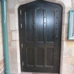 Period aged oak entrance door