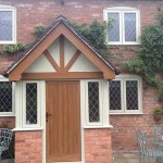Entrance door and casement windows
