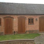 Several timber entrance doors