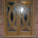 Leaded Custom oak entrance door