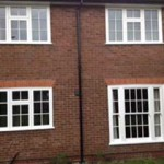 White timber sash with casements
