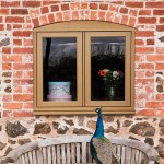 Timber effect window exterior