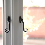 timber effect window handles